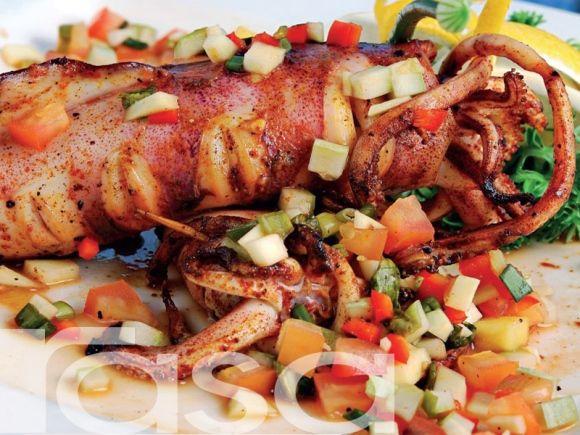 Sotong Bakar Bersos Salsa - Resipi - Makanan Laut - Resipi - Rasa