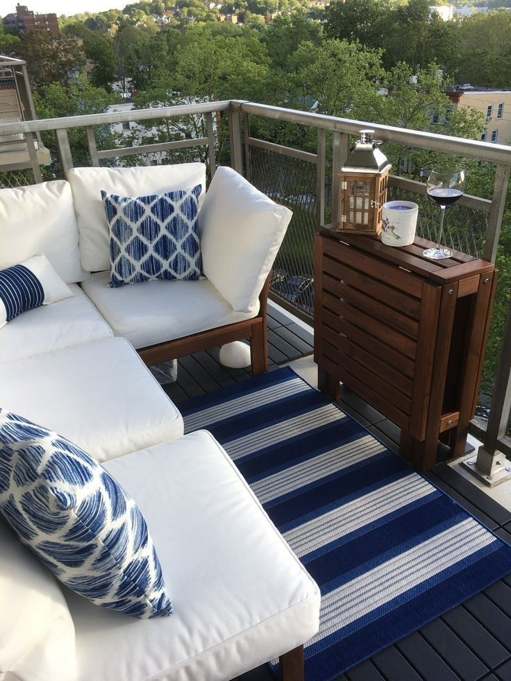 32 How To Decorate a Small Patio You'll Love #smallpatio #patiodecoration #patio…  – Balkon
