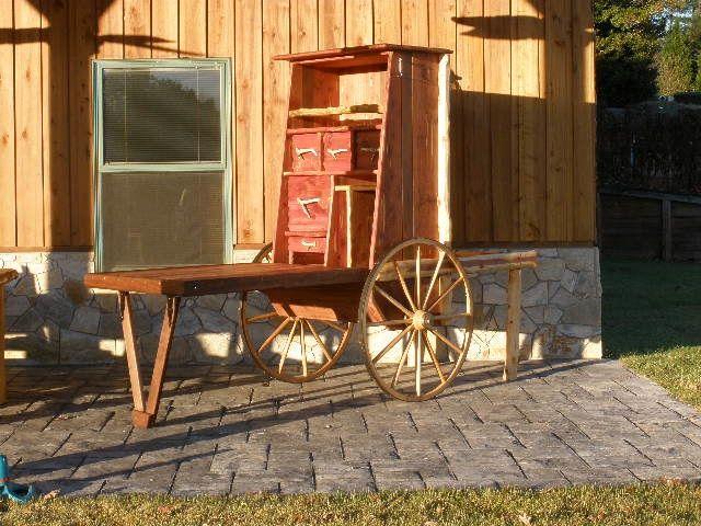 Cowboy Chuck Box This Is A Custom Built Log Chuck Wagon