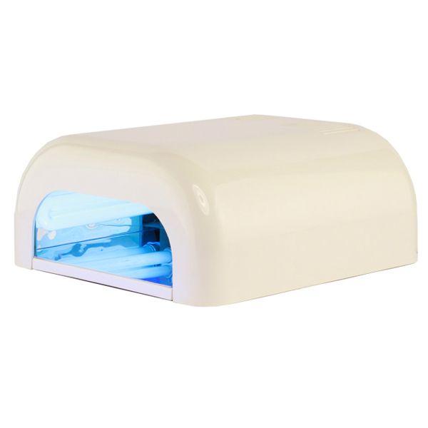 Indispensable para la elaboración de la extensión de uñas en gel. Debido a sus rayos U.V, con tiempos de 2 a 5 minutos, se solidifica cualquier sistema de gel.