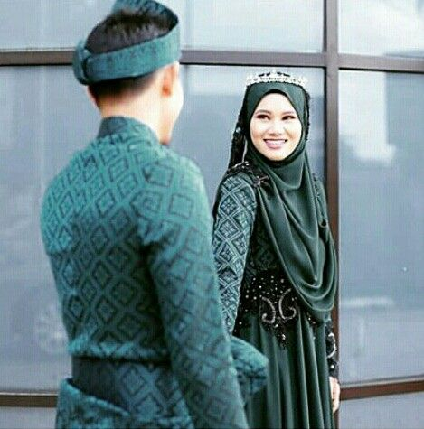 The green songket wedding …… by ejashahril design