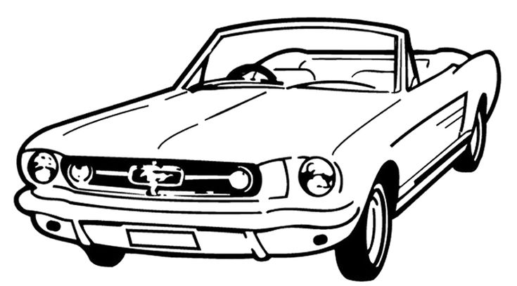 Mustang Car Coloring Pages : Voiture Mustang Coloring Page ...