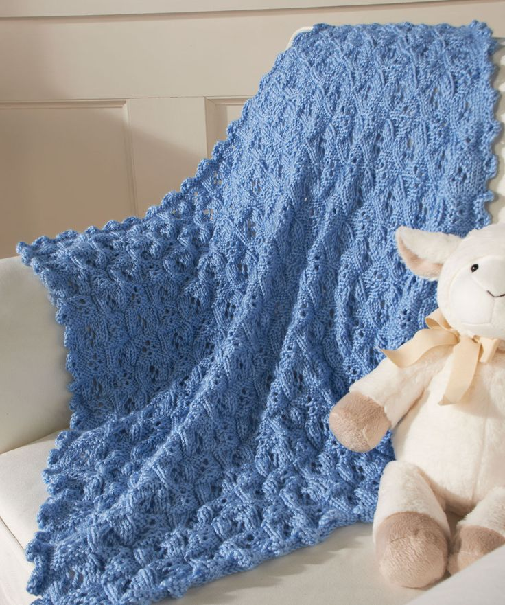 Prince (or Princess) Blanket ~ Free crochet pattern by Red Heart. Knit a beautiful blanket in cuddly soft yarn for a new precious baby boy or girl. This pattern is timeless, elegant and perfect for your dear little one. I LOVE the soft, lacy look!