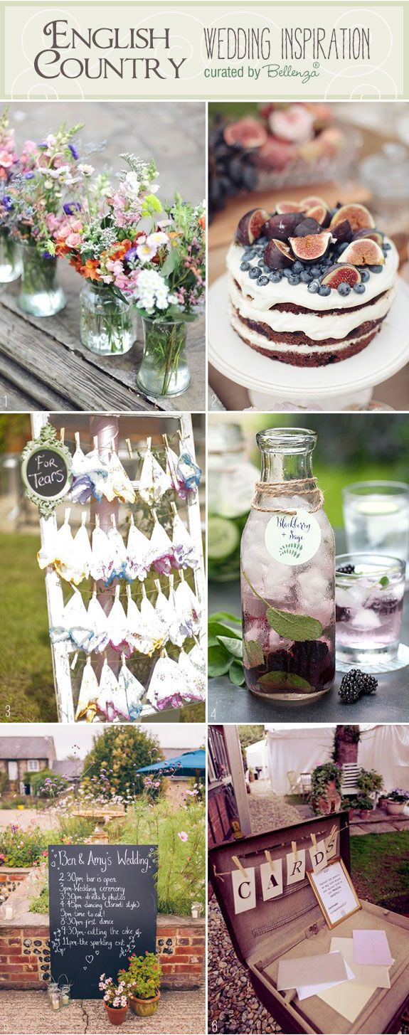 English Country Wedding Inspiration From Wildflower Centerpieces to Blackberry Infused Water and More!