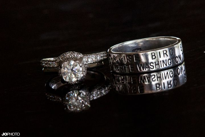 Duck Band Wedding Ring with wedding date :) For us girls that are from Missouri with devoted duck hunters.