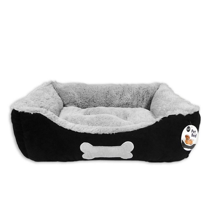 140each Luxury Suede Black/Grey Dog Bed with Plush Fleece Lining, Size Medium