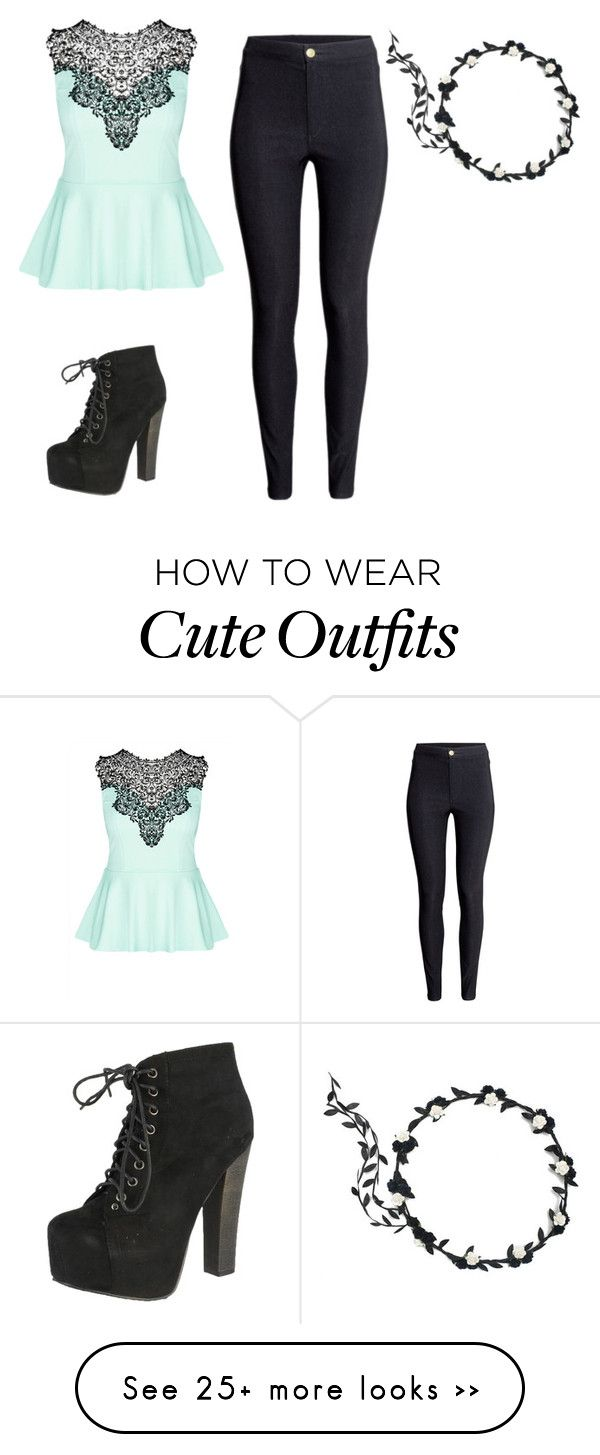 """Cute outfit. "" by gumimegpoid on Polyvore featuring H&M, City Chic and Breckelle's"