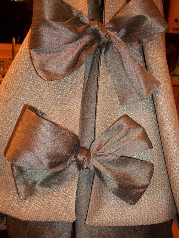 Metallic Silver Beaded Christmas Tree Skirt