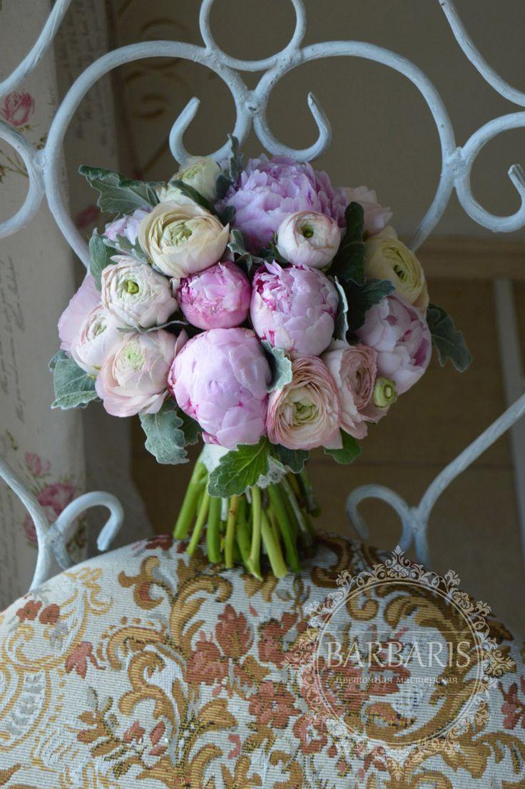 Букет невесты из пионов и ранункулюсов, Цветочная мастерская Барбарис, Одесса, Цветы, Отзывы, фото