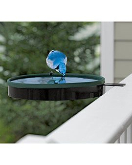 Railing Mount Heated Bird Bath | Bird Bath Heater | Gardener's Supply