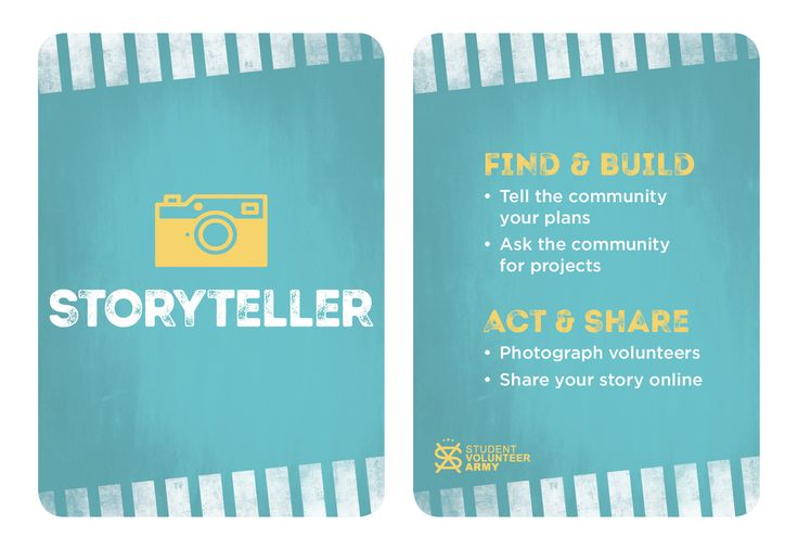 Project Team Role - Storyteller