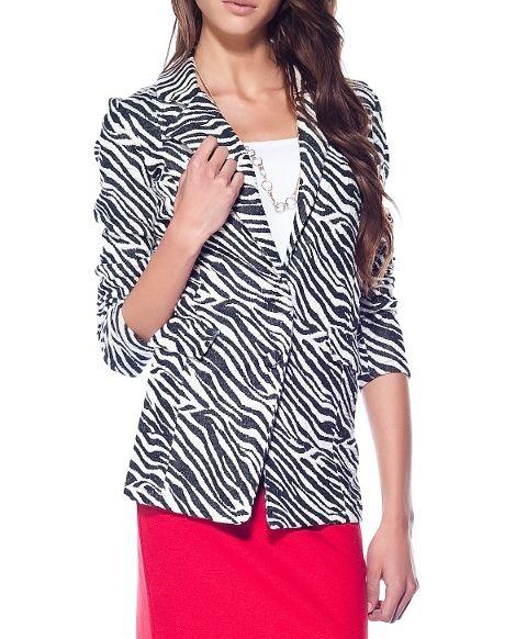 Siyah Ceket 8285   Mixray.com #ceket #zebra #istanbul #fashion #stil