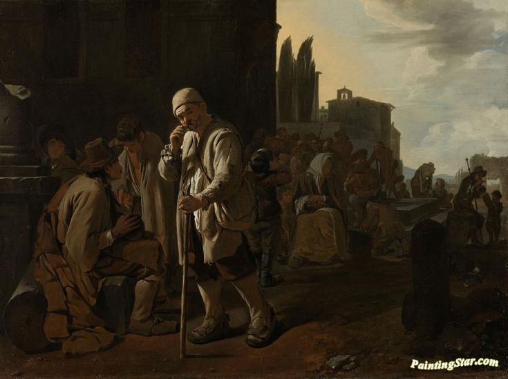 Feeding the hungry Artwork by Michael Sweerts Hand-painted and Art Prints on canvas for sale,you can custom the size and frame