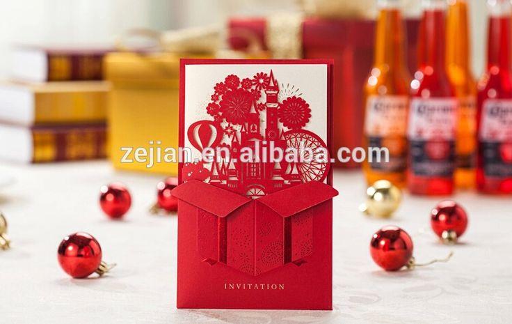 Clásicas invitaciones de boda europea Tarjetas de corte láser tarjetas de invitación, tarjetas de invitación Ver láser de corte, Zejian Detalles del producto desde Yiwu Zejian Gifts & Crafts Fábrica en Alibaba.com