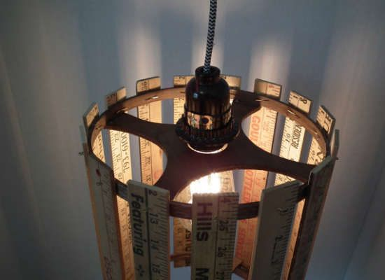 Make Your Own Pendant Light Fixture With Rulers. Diy Lampshade LampshadesPendant ...