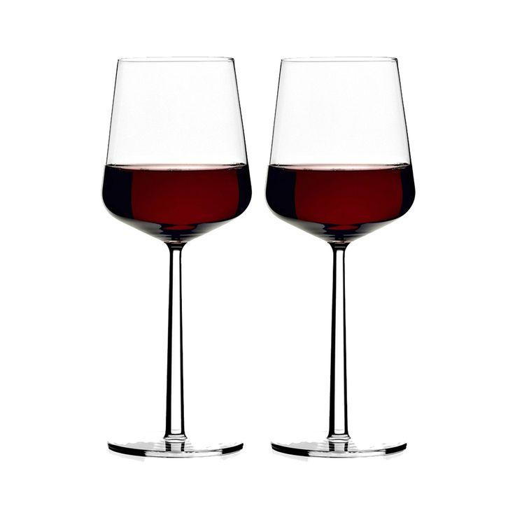 Essence rødvinglass fra Iittala, design av Alfredo Häberli. Serien med glass, vinglass, champagnegla...