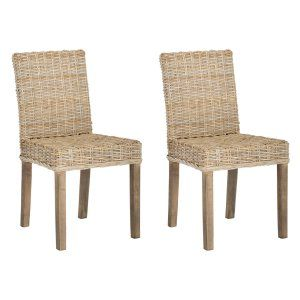 Wicker Rattan Dining Chairs On Hayneedle