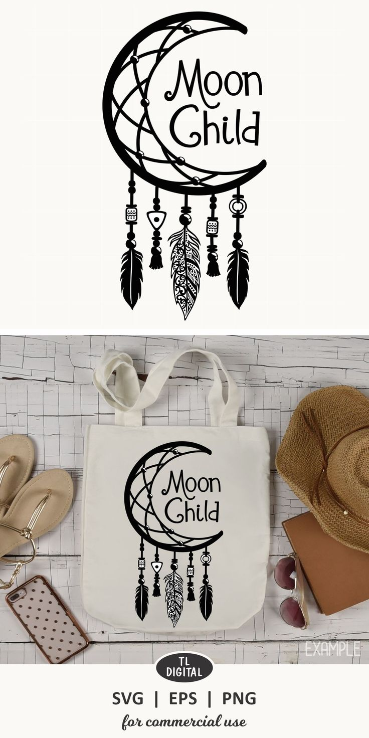 Moon Child DreamCatcher SVGEPSPNG Moon child, Stay