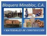 BLOQUERA MINABLOC Materiales de construcción, bloques, bloques de ventilación, bloques de placa, bloques de agregado liviano, piedras, ladrillos, cemento, arena, bloques de arcillas, panelones, cabillas, cal