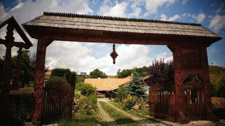 Romania traditional  romanian gates rural eastern europe