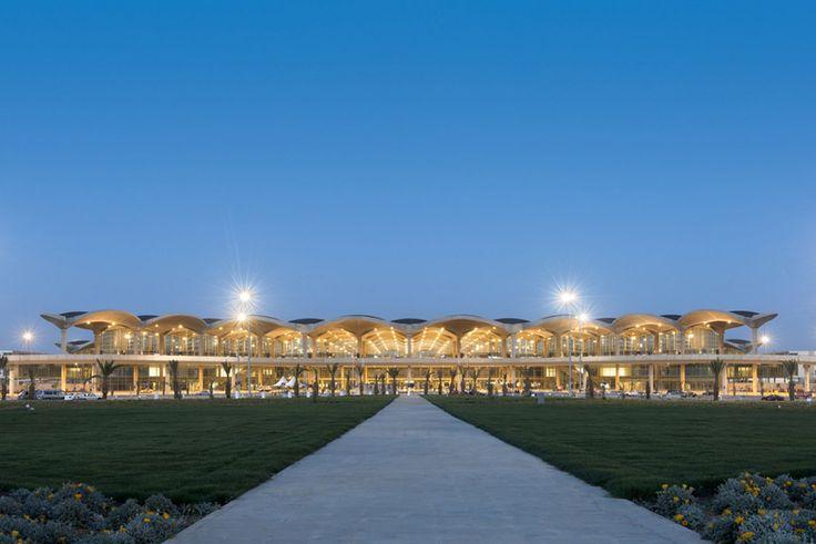 queen alia airport by foster + partners opens in amman, jordan