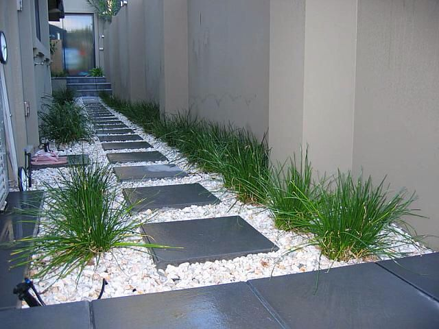 Paver and stones path