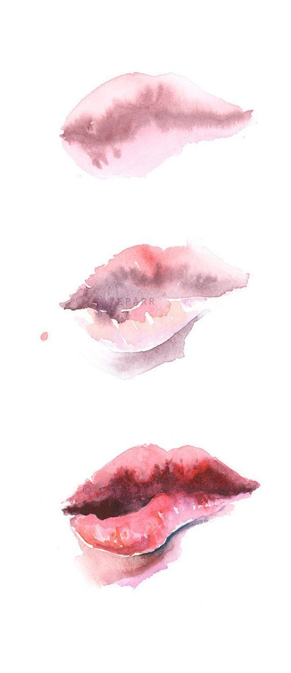 Lip Print Download Lip Print Biting Lips Abstract Painting Etsy