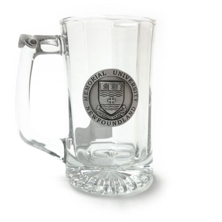 Stein glass with pewter crest