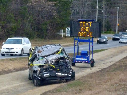 Text and drive scare tactic