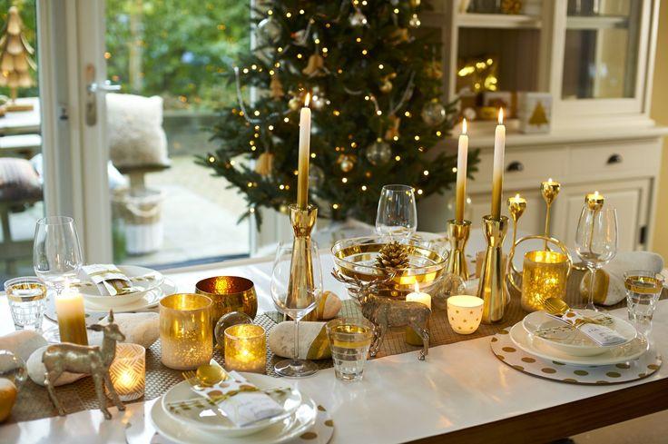 Feestdagen | Kerstrends 2015 - Kerst in goud & wit - Woonblog StijlvolStyling.com
