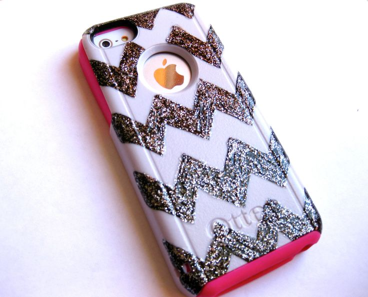 Otterbox iphone 5c case, cover iPhone 5C otterbox,iPhone 5C otterbox glitter case,otterbox iPhone 5C,glitter otterbox,chevron otterbox case by JoeBoxx on Etsy