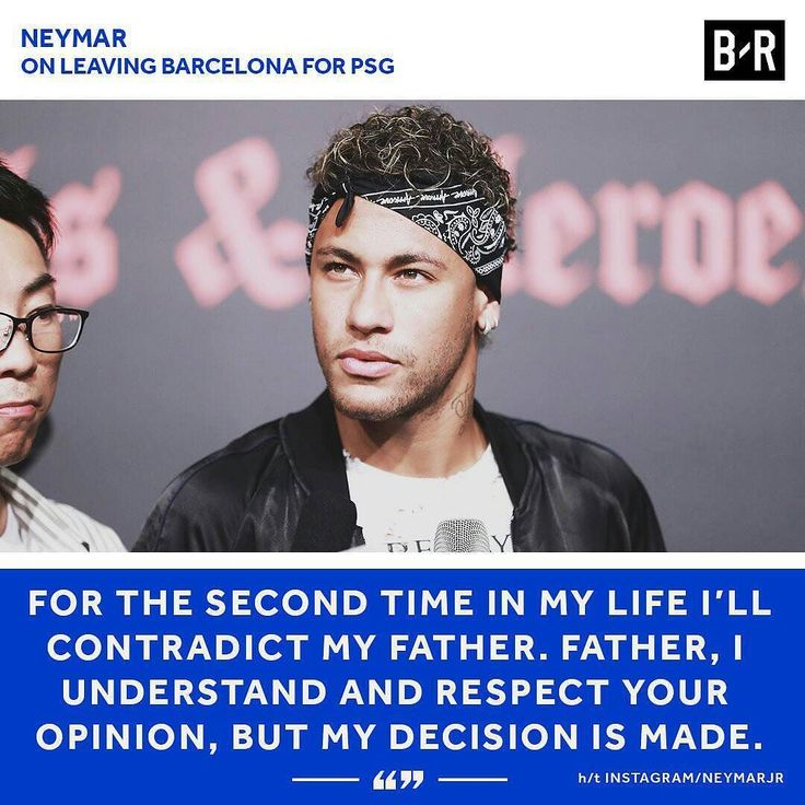 OFFICIAL WORDS OF NEYMAR:  The life of an athlete is a challenge. Some are natural others are the result of our decisions to maintain the light that  illuminates our career which is intense but short.  Barcelona has been more than a challenge it has been my dream as a child. Played with those cracks in the video game. I arrived in Catalonia at 21 full of challenges.  I remember my first days in the Club sharing the costumes with idols like Messi Valdés Xavi Iniesta Puyol Piqué Busquets and…