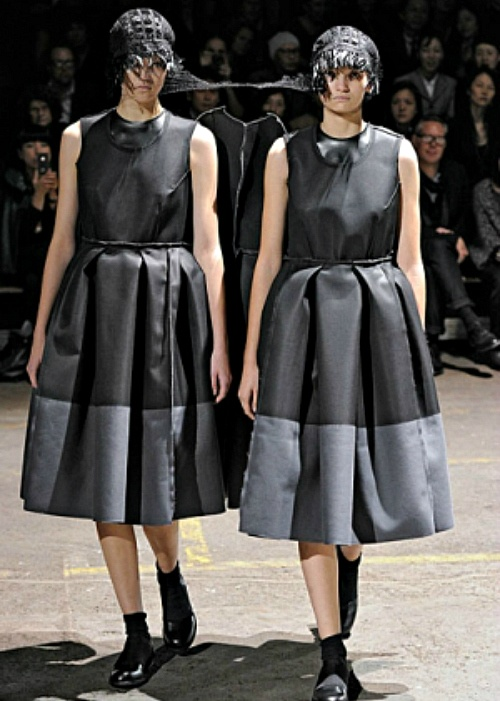 """""""Fashion is something you attach to yourself, put on, and through that interaction the meaning of it is born. Without the wearing of it, it has no meaning, unlike a piece of art. It is fashion because people want to buy it now, because they want to wear it now, today. Fashion is only the right now."""" — Rei Kawakubo,   founder of Comme des Garçons and Dover Street MarketPictured: Comme des Garçons Spring/Summer 2011"""