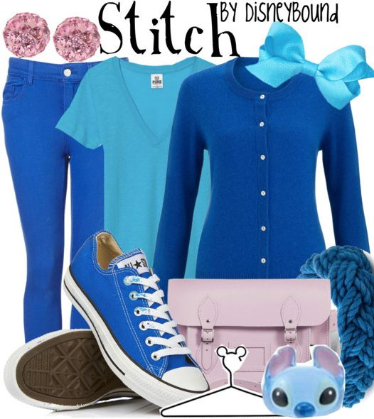 This Stitch outfit would be perfect for school. | Disney Fashion | Disney Fashion Outfits | Disney Outfits | Disney Outfits Ideas | Disneybound Outfits |  Lilo and Stitch |