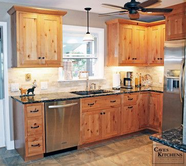 Knotty Alder Kitchens | Rustic Knotty Alder Kitchen with Weathered Beams rustic-kitchen