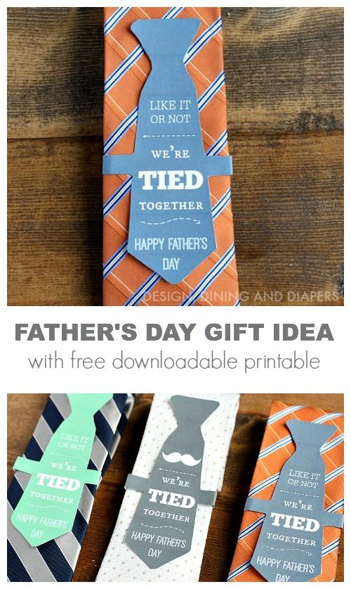 FATHER'S DAY GIFT IDEA WITH FREE DOWNLOADABLE PRINTABLE via @Taryn H H H {Design, Dining + Diapers}