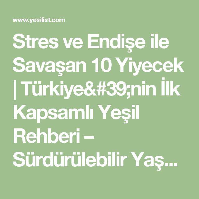 Stres ve Endişe ile Savaşan 10 Yiyecek | Türkiye'nin İlk Kapsamlı Yeşil Rehberi – Sürdürülebilir Yaşam Platformu