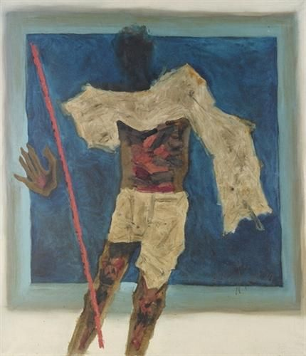 Gandhi - Man of Peace - M.F. Husain - Abstract Expressionism, Cubism