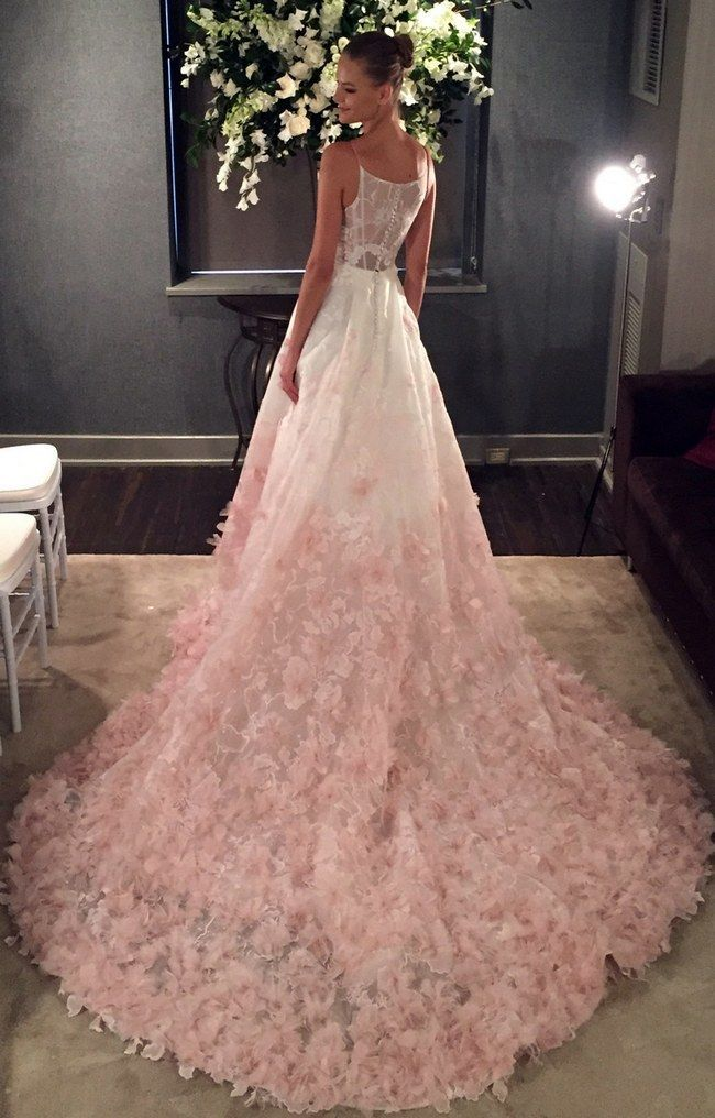 720 best pretty in pink wedding and prom images on for Pink ombre wedding dress