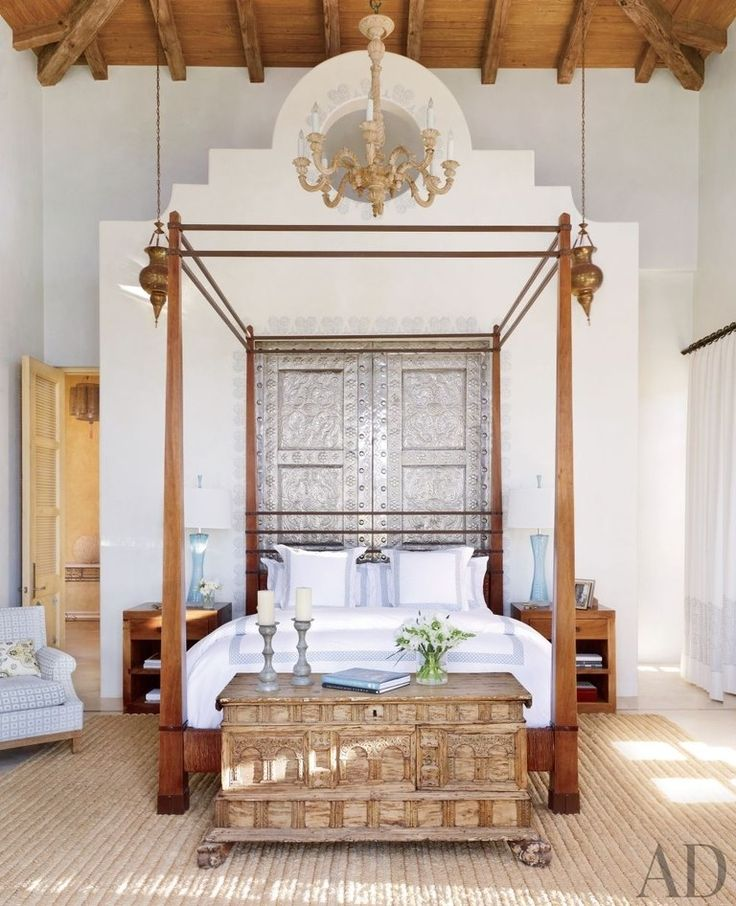 Exotic Bedroom by Marshall Watson Interiors and Stephen Morgan Architect in  San Jos del Cabo,