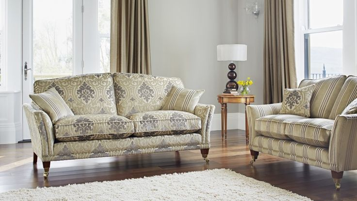 Harrow Large Two Seater in Balmoral, Two Seater in Balmoral Stripe. #Home #Interiors #ParkerKnoll