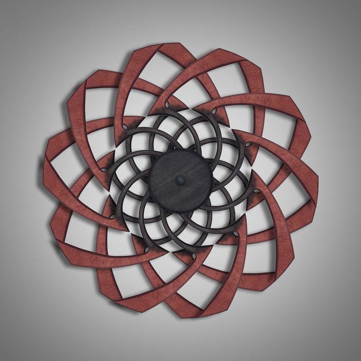Optical illusion sculpture: Rust Flow