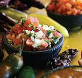 Salsa made fresh everyday at Aunt Chilada's