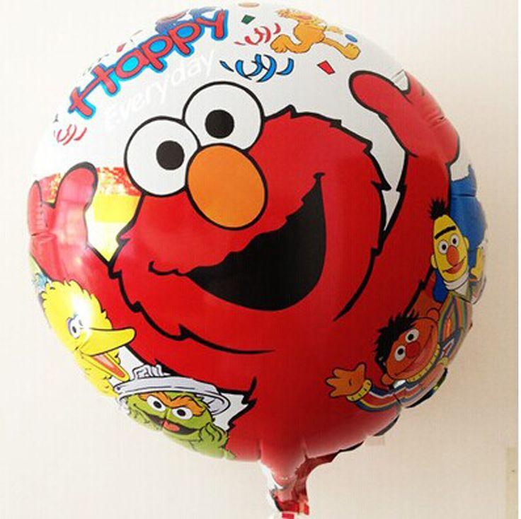 18 дюймов гелиевых шаров мультфильм надувные игрушки шаре на день рождения ну вечеринку украшения элмо ну вечеринку поставок шары