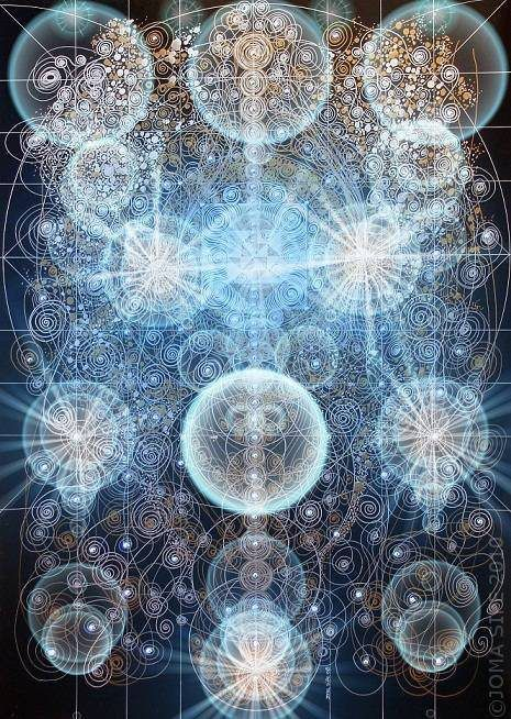 """Sacred Geometry, like nothing else I have ever seen, has the ability to inspire awe and awaken a very real experience of the world behind the curtain of creation.""  -- Karen Prior"