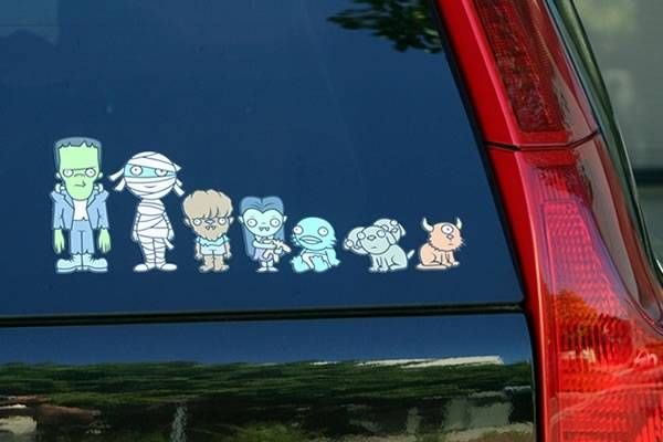 My monster family car stickers for the rest of us