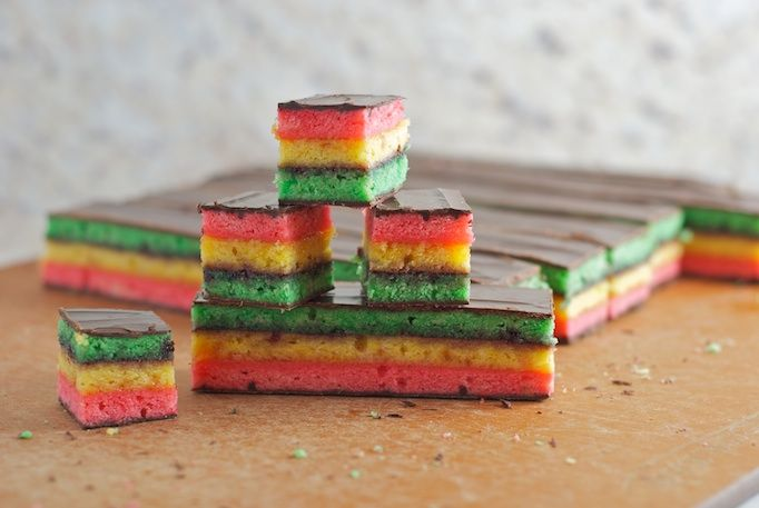 Seven Layer Cookies ...girls love these...and a red, white and blue one would look awesome too