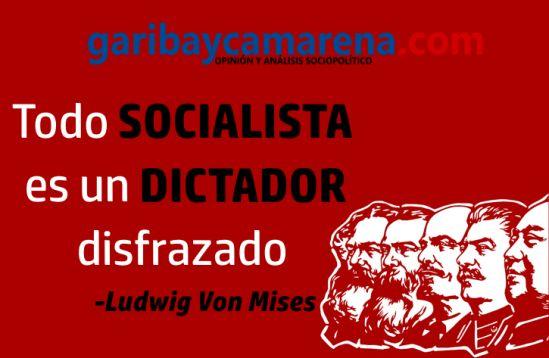 """El socialismo busca construir un mundo """"perfecto"""" para el que lo gobierna."""