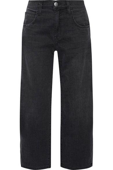 Current/Elliott - The Barrel Crop High-rise Wide-leg Jeans - Black - 31