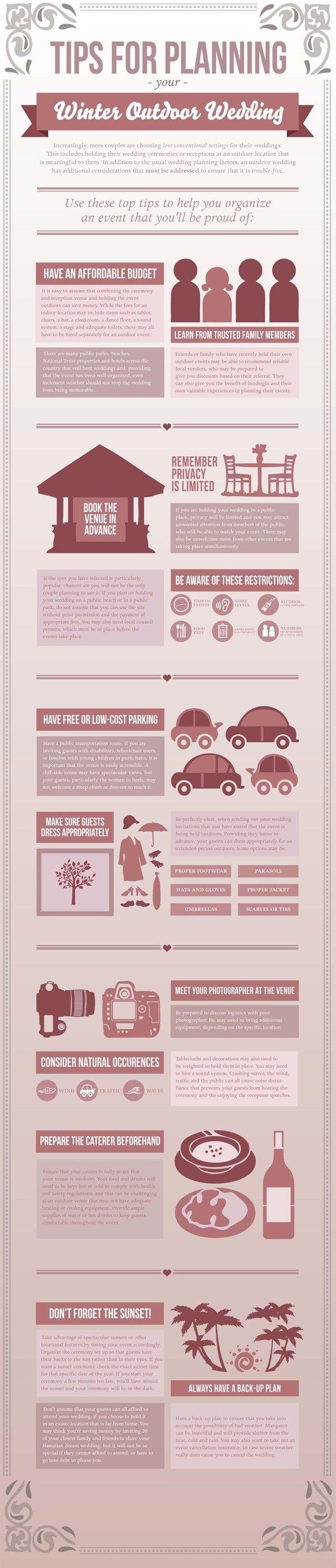 Winter Wedding Infographic by Bianca Iacopelli, via Behance